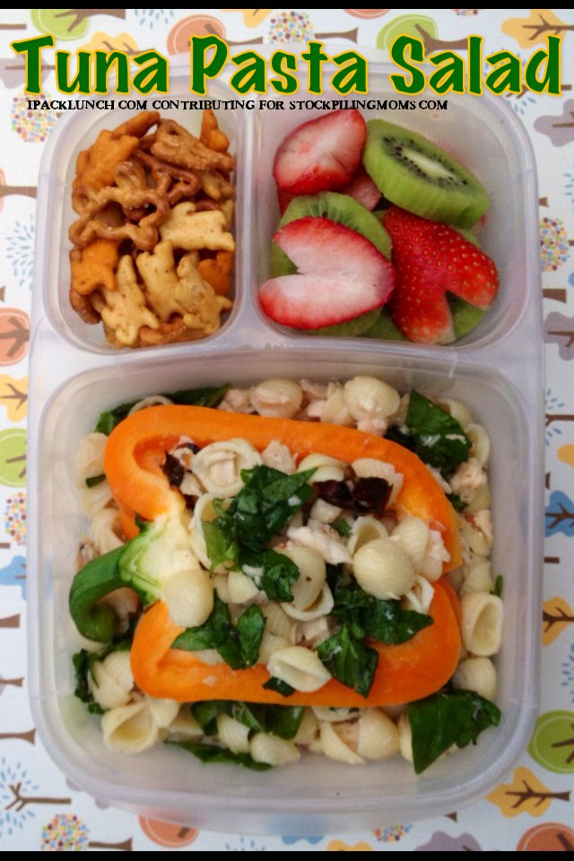 3 for 3 Lunch Challenge - Lunchbox Ideas using tuna, orange peppers and kiwi