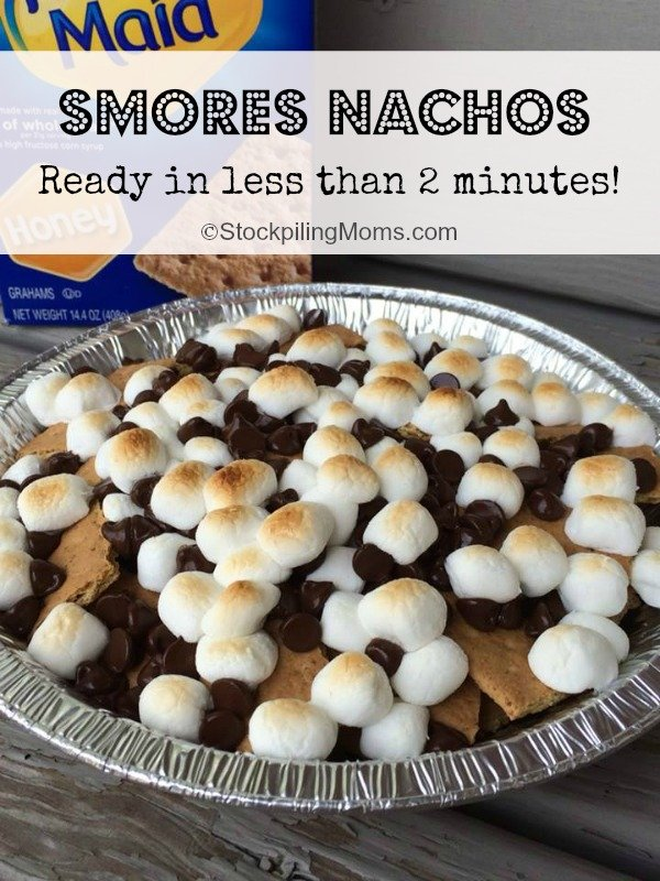 S'mores Nachos are ready in less than 2 minutes! Your family will love them!