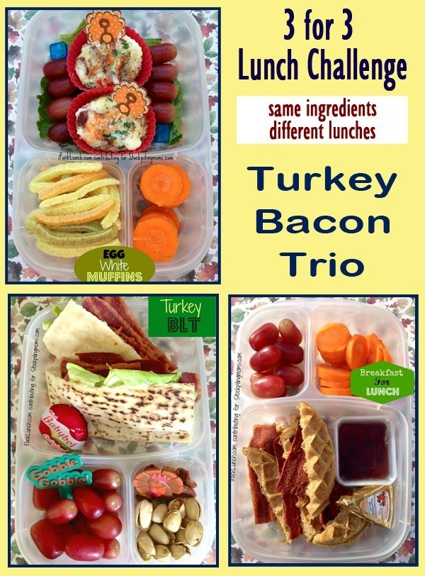 3 for 3 Lunch Challenge - Turkey Bacon Trio
