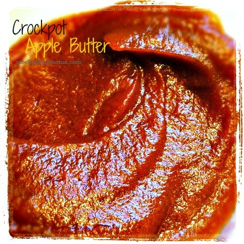 Homemade Crockpot Apple Butter Recipe is perfect on a biscuit on a fall day.
