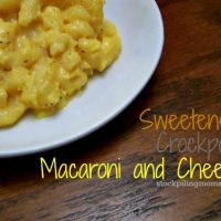 Sweetened Crockpot Macaroni and Cheese