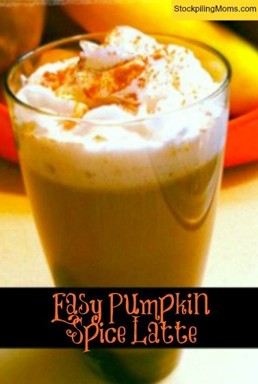 Easy Pumpkin Spice Latte is perfect on a cool fall evening.