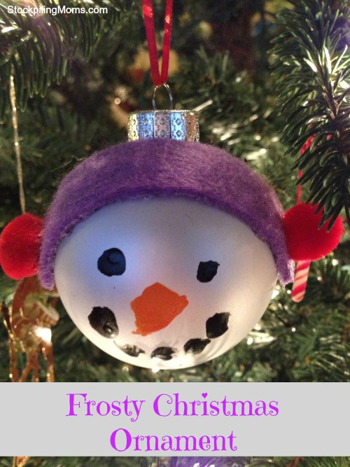 Frosty Christmas Ornament