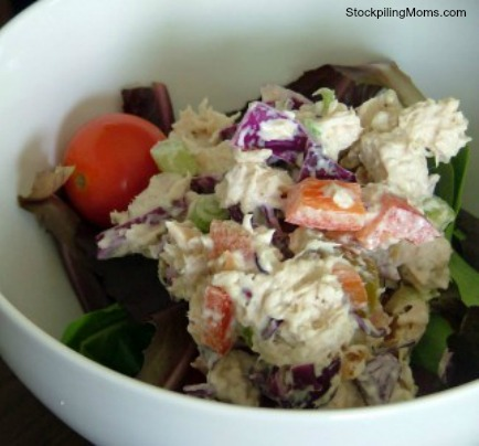 I am in love with this light and delicious Gluten-Free, Casein-Free Chicken Salad.