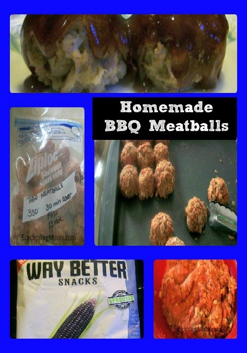 Homemade BBQ Meatballs is an easy freezer meal.