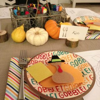 DIY Kid's Thanksgiving Table