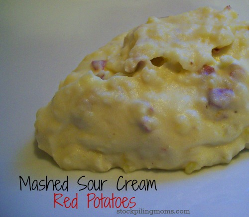 Mashed Sour Cream Red Potatoes are an easy side dish and gluten free!