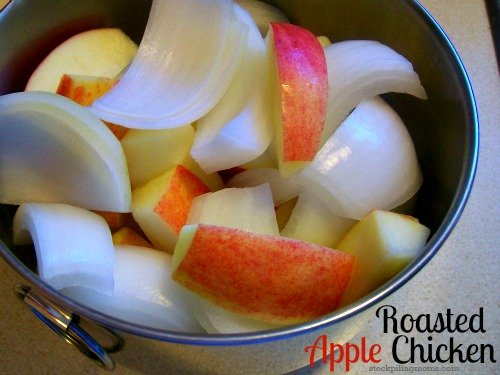 This Roasted Apple Chicken tastes delicious and is so easy to prepare!