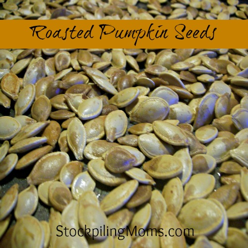 Roasted Pumpkin Seeds are the best part of carving pumpkins and so healthy to snack on!