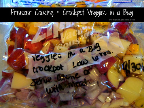 Crockpot Veggies in a Bag is an easy freezer meal and so good for you too!