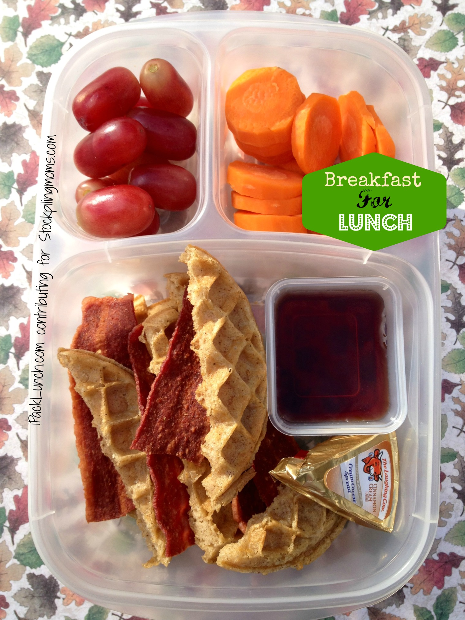 3 for 3 Challenge - Lunchbox Ideas using Turkey Bacon, Carrots and Grapes