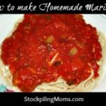 homemade marinara