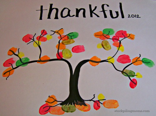 Thankful Thumbprint Craft