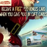 Outback Steakhouse Holiday Gift Card Deal 2012