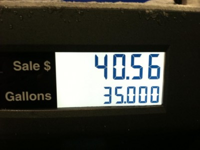 Gas for $1.16 a gallon??? $40.56 for 35 gallons of gasoline!!!