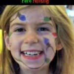 Christmas Tree Lights Face Painting