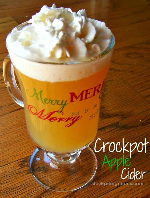 Crockpot Apple Cider is perfect to make for fall parties!