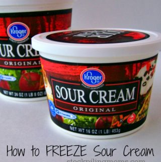 Can you freeze sour cream?