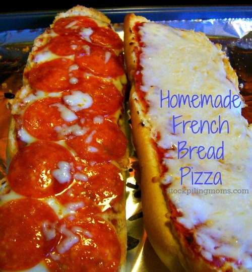 This tasty Homemade French Bread Pizza is perfect for game day or pizza night!