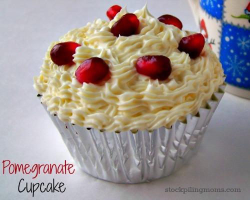 Pomegranate Cupcakes are a gorgeous dessert for the holidays! I always get so many complements on them!