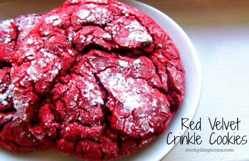 Red Velvet Crinkle Cookie