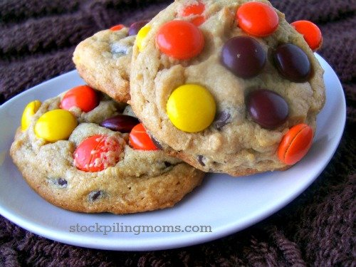 Reese's Pieces Peanut Butter Cookies are literally my FAVORITE! If you love Reese's Pieces you will love this cookie!