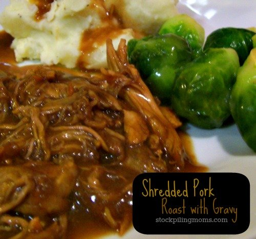 Shredded Pork Roast with Gravy