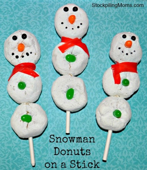 Donut Snowman are perfect for kids to enjoy during the Christmas Season or anytime during the winter