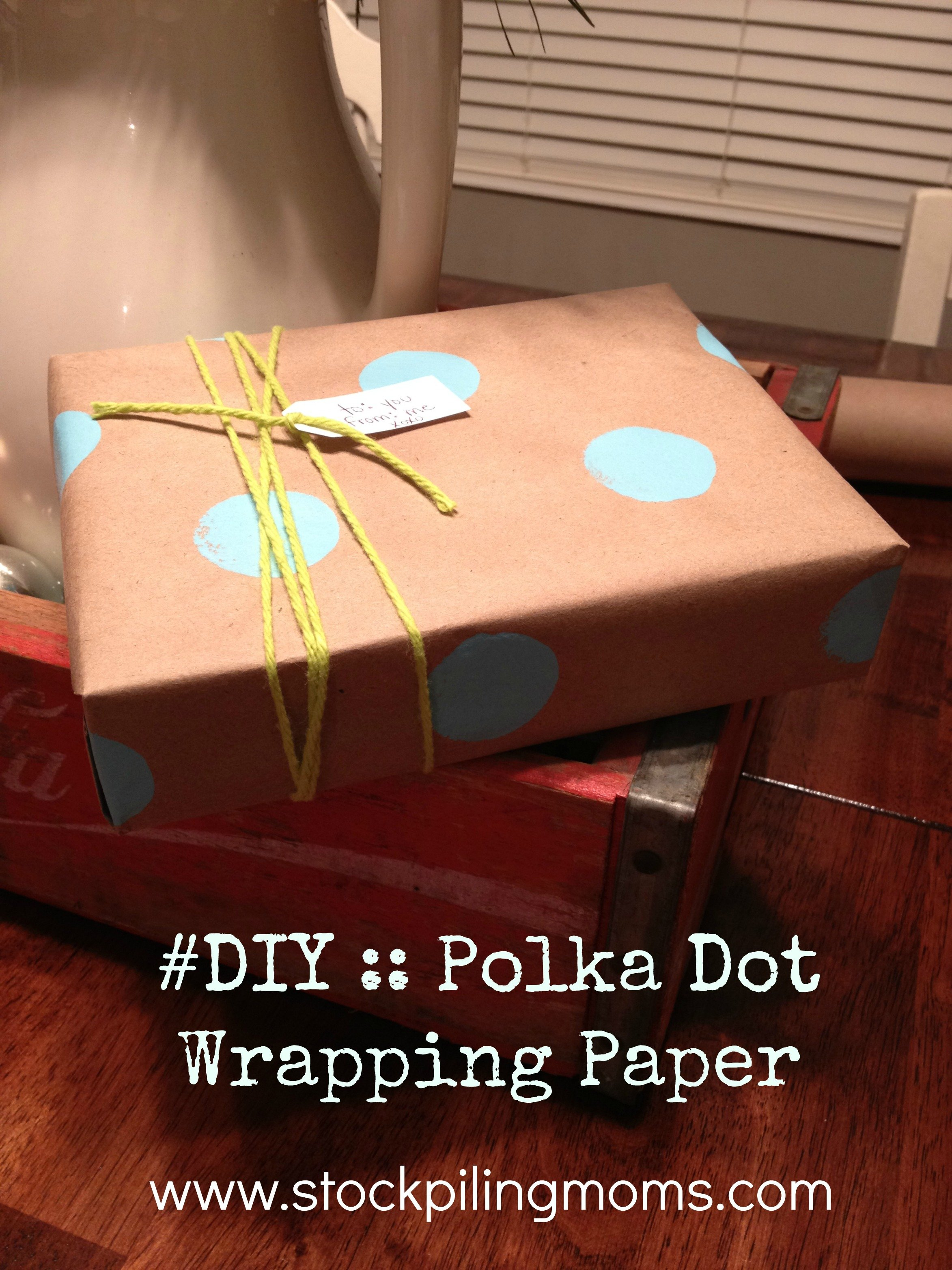 Making your own gift wrap saves money and gives your gift the perfect touch!