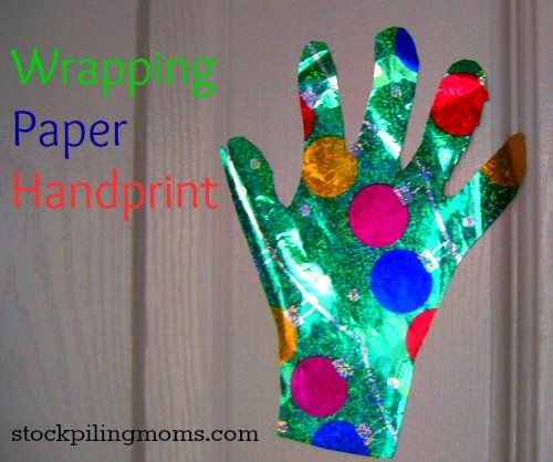 Wrapping Paper handprint