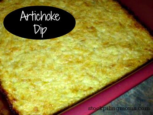 Artichoke Dip has only 3 ingredients in this delicious appetizer recipe that is perfect for parties and game day! #glutenfree