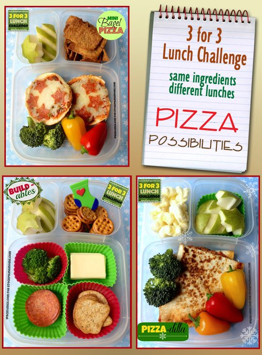 3 for 3 Lunch Challenge - Pizza Pleasers