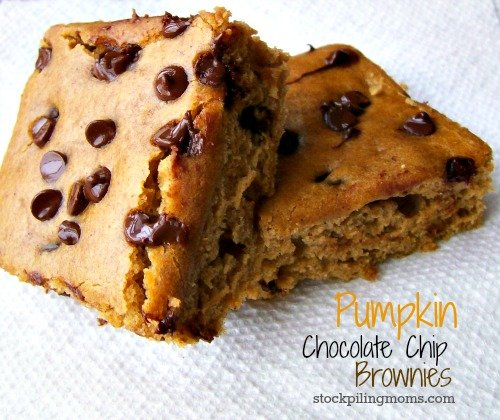 Pumpkin Chocolate Chip Brownie