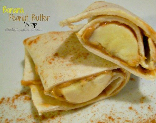 Banana Peanut Butter Wrap is the perfect way to eat clean for breakfast!