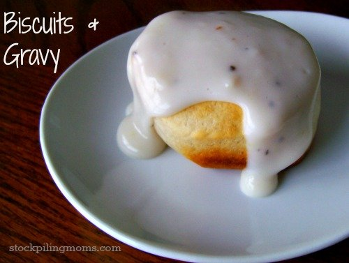 You can't get better than biscuits and gravy! Pure southern comfort food.