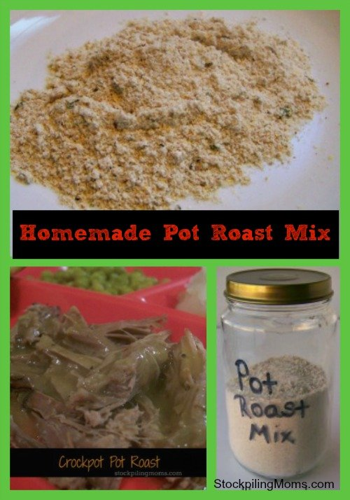 This Homemade Pot Roast Mix Recipe will be sure to make the perfect pot roast every time!