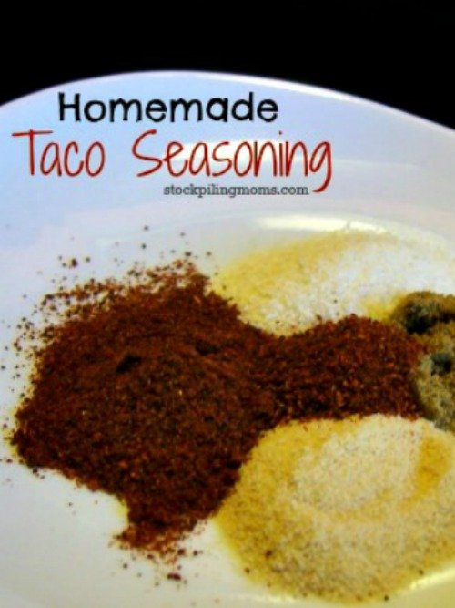 Make your own homemade taco seasoning! It is all natural and gluten free! A great way to save money and eat healthy!