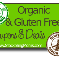Organic and Gluten Free Coupons and Deals