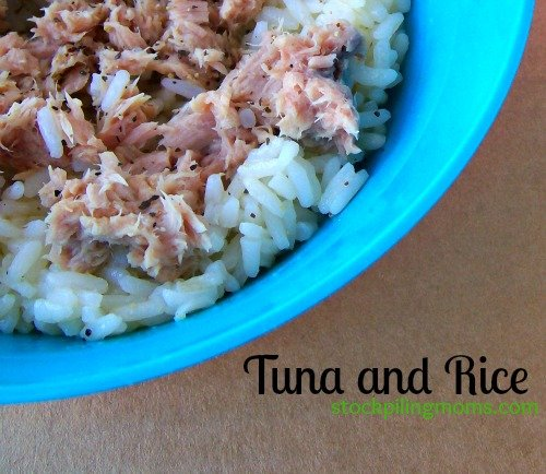 Tuna and Rice is a high protein meal idea when you are carb cycling. You can use white or brown rice.