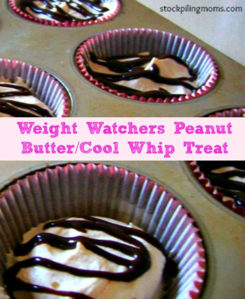 Only 1 WW point in this delicious peanut butter/cool whip low fat dessert. Weight Watchers Peanut Butter Treat is so yummy!