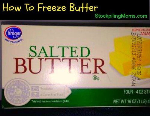 Can you freeze butter? Yes, you can! Read this tip!