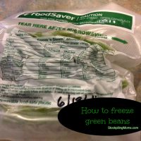Can you freeze green beans?
