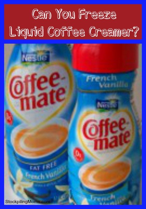 can you freeze liquid coffee creamer