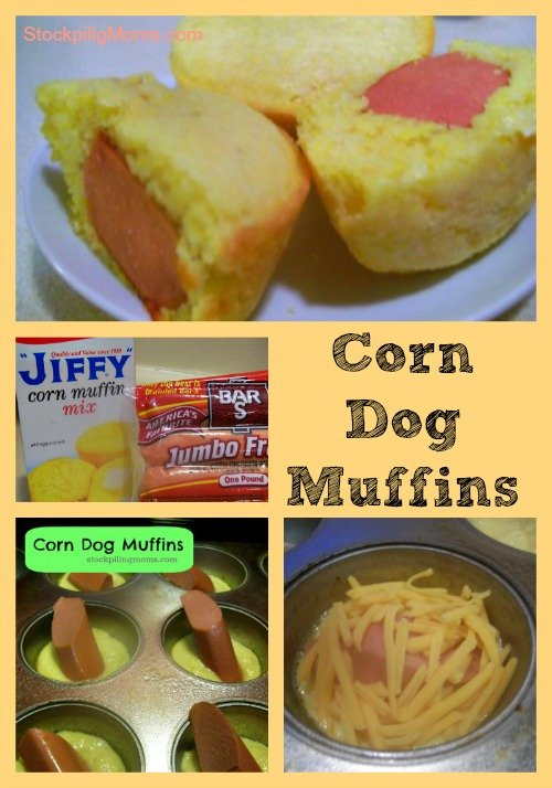 Corn dog muffins are so easy to make and the kids will love them!