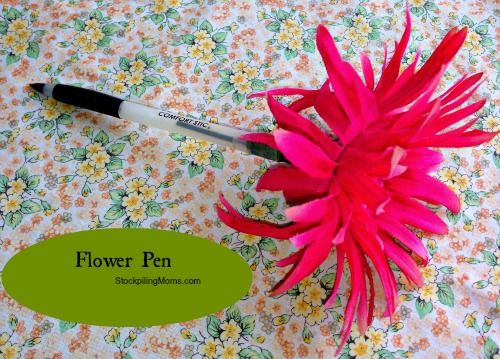 Homemade valentine gifts flower pens by wenderly foodblogs mightylinksfo