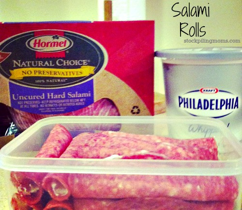 Salami Rolls are the easiest appetizer and so delcicious!