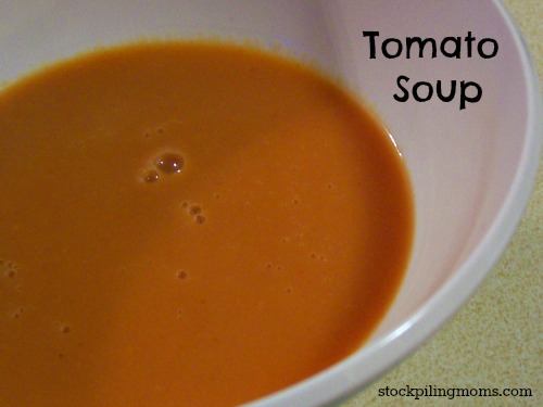 Homemade tomato soup is perfect on a cold winter day with a grilled cheese!
