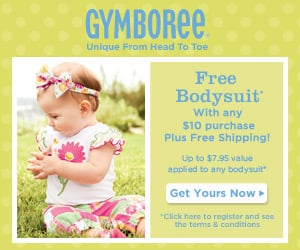 Gymboree::  Coupon for Free bodysuit with $10 purchase