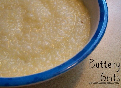 Buttery Grits are a southern tradition. You can get any better with a slice of country ham!