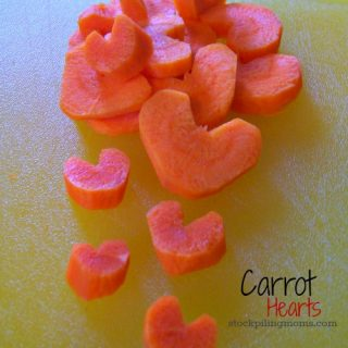 How to make Carrot Hearts